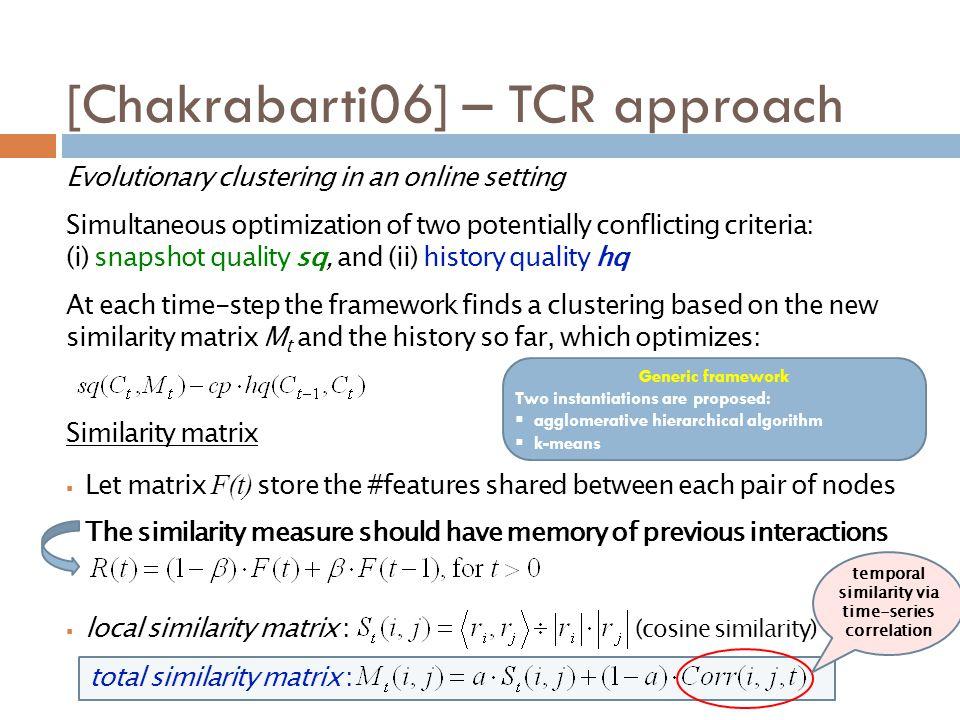 [Chakrabarti06] – TCR approach